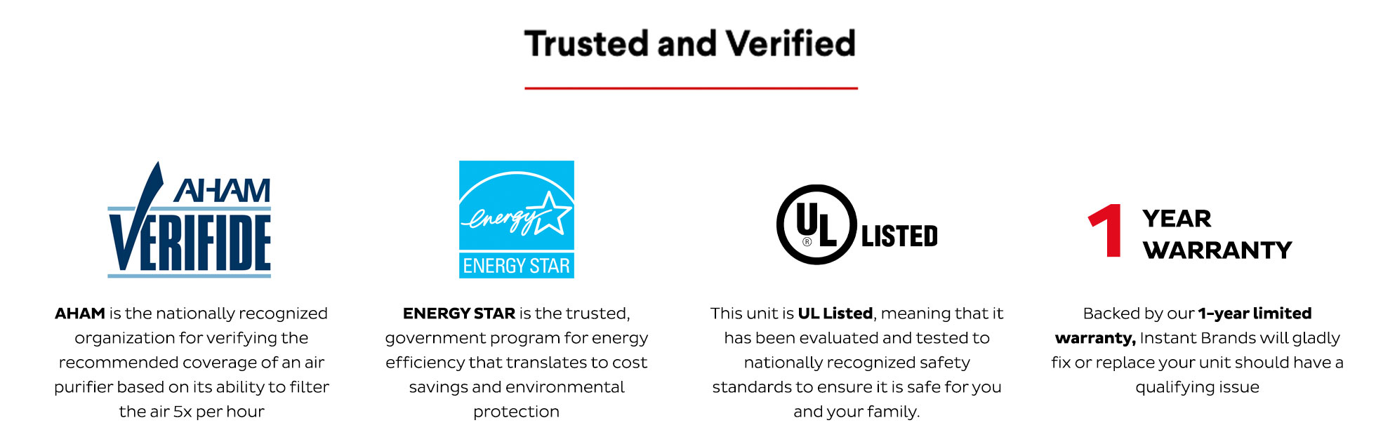 Trusted and verified